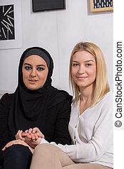 musulman, caucasien