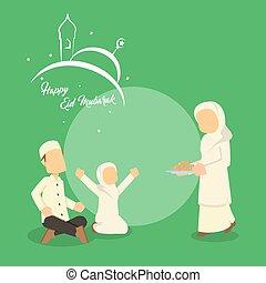 musulman, réunion famille
