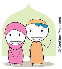 musulmano, bambini