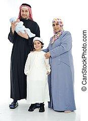 musulmano, famiglia, felice
