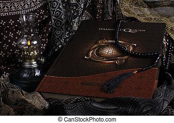 musulmano, libro, santo