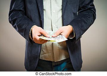 muta, affär, givande pengar, styrelse, passa, formell