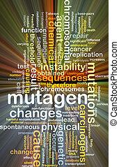 mutagen, gloeiend, concept, achtergrond