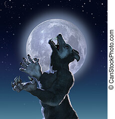 Mutant Wolf in Moonlight - The result of a genetics ...