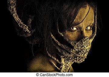 mutation man - Frightening mythical creature male. Alien ...