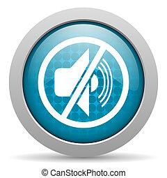 mute blue circle web glossy icon