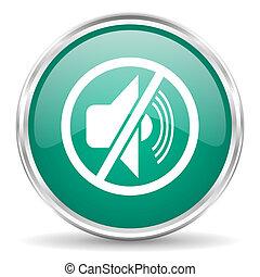 mute blue glossy circle web icon