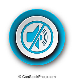 mute blue modern web icon on white background