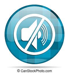 mute blue round modern design internet icon on white background