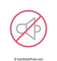 mute  color line icon