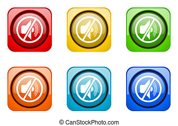 mute colorful web icons