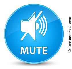 Mute elegant cyan blue round button