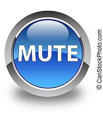 Mute glossy blue round button