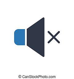 mute  glyph color icon