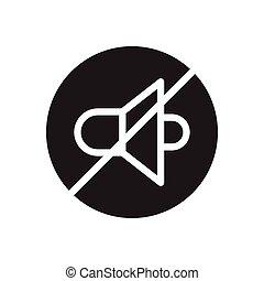 mute  glyph flat icon