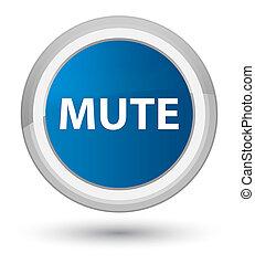 Mute prime blue round button