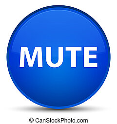 Mute special blue round button