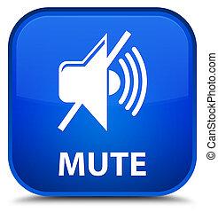 Mute special blue square button