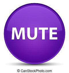 Mute special purple round button