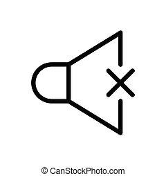 mute thin line icon