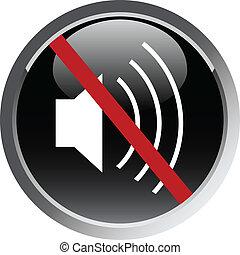 mute vector web icon
