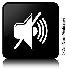 Mute volume icon black square button