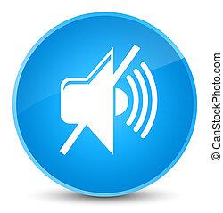 Mute volume icon elegant cyan blue round button