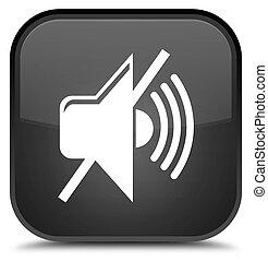 Mute volume icon special black square button