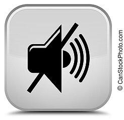 Mute volume icon special white square button
