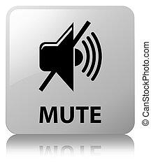 Mute white square button