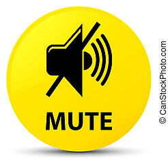 Mute yellow round button