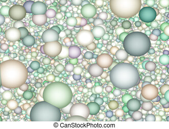 Muted color spheres background