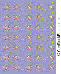 Muted country petals on Periwinkle - Muted periwinkle blue...