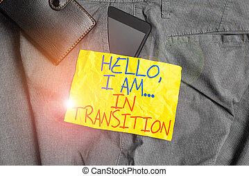 mutevole, portafoglio., fronte, processo, smartphone, pianificazione, tasca, esposizione, scrittura, showcasing, pantaloni, transition., ciao, nuovo, congegno, foto, affari, nota, progressione, cose, dentro
