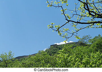 Mutianyu Section Great Wall, Outside Beijing China - Looking...