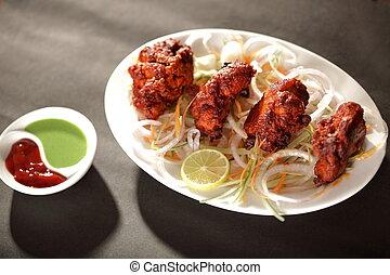 Mutton Tikka is an Indian/Pakistani dish made by baking...