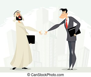 Mutual cooperation of businessmen