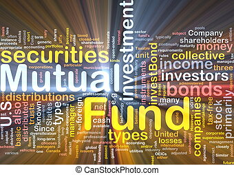 Mutual fund background concept glowing - Background concept...