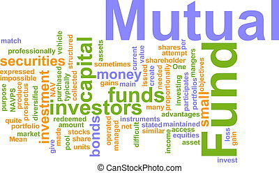 Mutual fund word cloud - Word cloud concept illustration of...