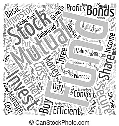 Mutual Funds A Secure Investment text background wordcloud concept