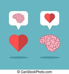 Mutual love brain, heart
