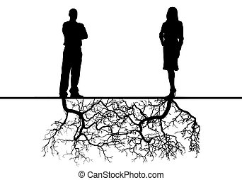 Relations between the man and the woman with deep sense