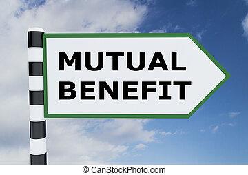 mutuel, concept, bénéfice