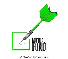 mutuel, illustration, dard, fonds, conception, chèque