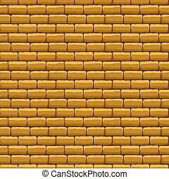 muur, baksteen, beige, textuur, seamless