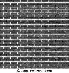 muur, baksteen, black