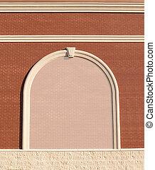 muur, baksteen, kopie, space., sierlijk