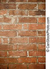 muur, baksteen, oud, achtergrond, textuur