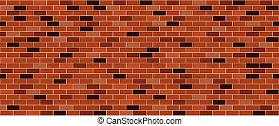 muur, baksteen, oud