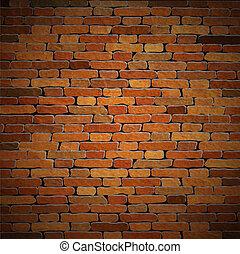 muur, baksteen, vector, oud, achtergrond